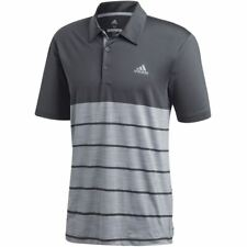 adidas Golf Mens 2018 Ultimate365 Heather Stretch Short Sleeve Polo Shirt Top XL Carbon/white