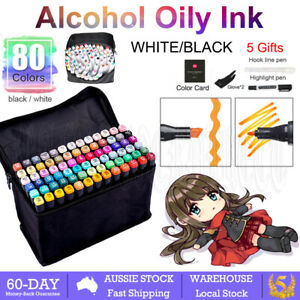 80PCS Marker Pens Set Dual Heads Graphic Artist Craft Sketch Copic TOUCH Markers