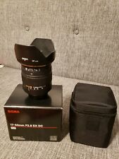 Sigma for Pentax 17-50mm F2.8 DC EX HSM Lens Hood Both Caps Factory Soft Case