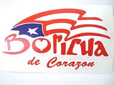 PUERTO RICO BORICUA DE CORAZON DECALS STICKERS SOUVENIRS Easy to paste
