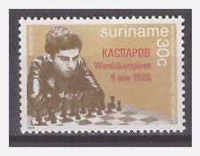 Surinam / Suriname 1985 Schaken chess schach echecs Kasparov overprint MNH