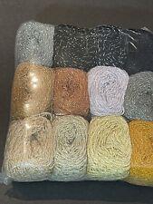 Pack of 12 Crystal[15 Grs]Metallic-Pantera Rosa-Crochet Thread Yarn-brown-gray-b