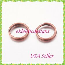 10mm 50pcs Antique Copper Bronze Split Dbl Jump Rings Jewelry Findings Earrings