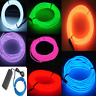 7 Pack - Jytrend 9ft Neon Light El Wire w/Battery Pack Green, Blue, Red, Orange,