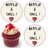 Netflix And Chill Spruch Essbar Muffin Tortenaufleger Party Deko