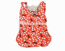 Dog Summer Dress Pink Coral Size S M L XL Cute Affordable Pet Clothes