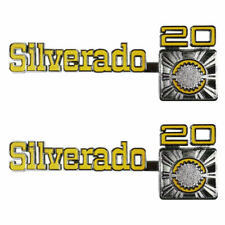 "75-80 Chevrolet C/K "" Silverado 20 "" Front Fender Emblem Trim SET - Trim Parts"