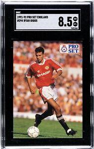 1991-1992 Ryan Giggs Pro Set Rookie Graded SGC 8.5
