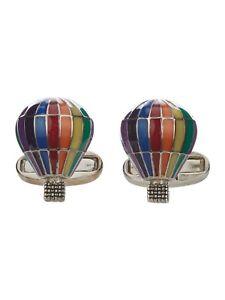 Paul Smith Mens Rainbow Stripe Hot Air Balloon Cufflinks BNWB