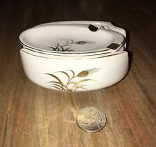 Vtg 50s LEFTON CHINA 5 PIECE HAND PAINTED ASHTRAY SET GOLD TRIMMED Numbered