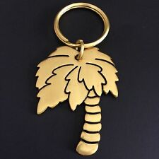 Vintage Palm Tree Key Ring Chain by RUSS Gold Tone Made in Taiwan T20 Used