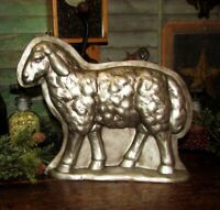 Primitive Antique Vtg Style Silver Sheep Lamb Chocolate Mold Resin Arrow Hanger