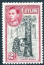 CEYLON-1938 2c Black & Carmine Perf 11½x 13 Sg 386 MOUNTED MINT V14967