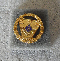 Vintage 1990s Gold Tone Metal Freemason Grand Lodge Pennsylvania Pin Back