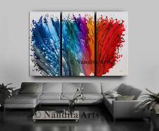 Abstract Blue and Red Extra Large Modern Artwork Wall Art Decor Nandita Albright
