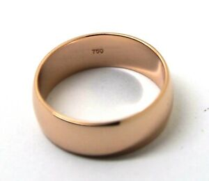 Size T Genuine New 18ct 18k 750 Gold Solid Rose Gold 6mm Wedding Band Ring
