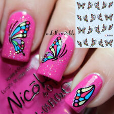Lovely Butterfly Printed Nail Art Water Transfer Stickers Decals Wraps