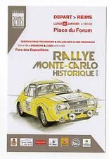 Carte postale Rallye Monté Carlo Historique 2012 départ de Reims Lancia Fulvia
