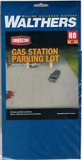 HO Scale Walthers Cornerstone 933-3540 Gas Station Parking Lot Kit