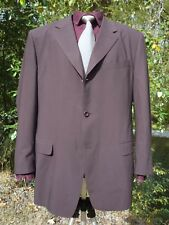 "CANALI SUIT COAT 46 WOOL 48"" CHEST ITALIAN 3 BUTTON 0 VENT GREY-BROWN + SILK TIE"