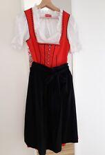 KRÜGER MADL Wiesn Dirndl Kleid Midi Dress Cotton rot/schwarz Gr.36 NEU NP179,00