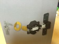 "Gatemate 2 3/4""/ 70mm Long Throw Lock Door Gate Key Lockable & Rear Spring Latch"