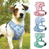 Breathable Floral Dog collar harness Reflective Dog Vest for Small To Large Dogs