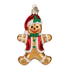 """Gingerbread Boy"" (32164)X Old World Christmas Glass Ornament"
