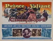 PRINCE VALIANT Movie POSTER 22x28 Half Sheet James Mason Janet Leigh Robert