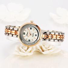 LVPAI Damen Mädchen Edelstahl Armbanduhr Rhinestones Quarz Dress Gift Watches