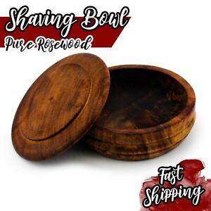 New Luxury Wooden Shaving Soap Bowl / Mug with Lid Cover For Men's Brush HARYALI