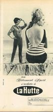 N- Publicité Advertising 1963 Vetement de sport maillot de bain La Hutte