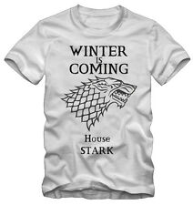 T-shirt /Maglietta Game Of Thrones Trono Di Spade House Stark Serie TV