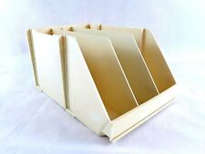 Pharmacy Store 12 X 8 X 6 Hard Plastic Beige Basket With Dividers