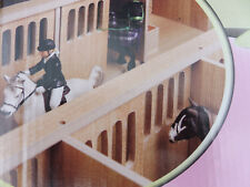 Pferdestall 1:24 für Schleich Pferde Holz Stall mit 7 Pferdeboxen