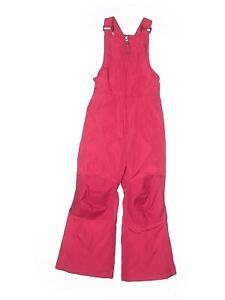New Lands' End pink raspberry winter Kids Bib pants snow suit baby girl 3T