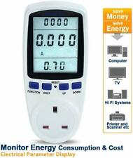 UK Plug Energy Usage Power Monitor Meter - GorillaSpoke for Free P&P to EU & UK