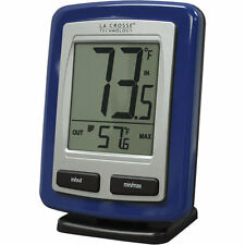 La Crosse Wireless Remote Thermometer Blue In And Out Temperature in Farenheit