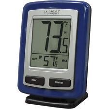 La Crosse Wireless Remote Thermometer Blue In And Out Temperature in Farenheit