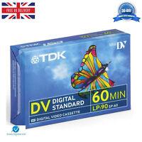 1 TDK DVM60 LP:90 60 Minute Blank Tape Cassettes for MiniDV Camcorders BRAND NEW