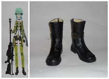 Sword Art Online 2 Shino Asada Sinon Cosplay Costume Boots Boot Shoes Shoe