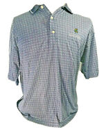 Slazenger Men's Large Shirt Grand Waikapu Golf Rare Polo Blue Vintage Hawaii