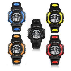 Digital LED Water Resist Sport Watch Wrist Backlit For Boys Girls Kids Unisex