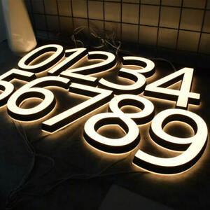 Led Numbers Address Inch Low Voltage Backlit Sign 5 Durable  Acrylic Mini House