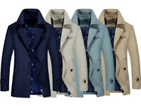 Stylish Spring Mens Outerwear Business Coat Trench Oversize Windbreaker Jackets