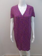 COUNTRY ROAD PURPLE PRINT DRESS SIZE 10  (#H1085)
