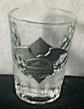 Harley Davidson Motorcycle Shot Glass Est 1903 American Ingenuity eagle emblem