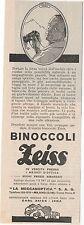 Pubblicità vintage ZEISS BINOCOLI MILANO LENTI reklame advert werbung publicitè