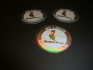 1989 Upper Deck Baseball Hologram Stickers St. Louis Cardinals RETRO LOGO Lot x3