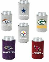 NFL Football Glitter Pocket Coolie Can Kaddy Koozie - Pick Team